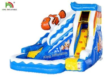 Commercial PVC Tarapulin Blue Mini Inflatable Water Slide For Sales