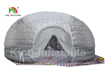 China Airtight Combo Color Clear Inflatable Bubble Tent 8m Diameter For Outdoor supplier