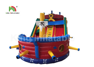 Good Quality Inflatable Water Parks & Red Inflatable Jumping Castle With Blower For Toddler / Pirate Ship Combo Bouncer Slide on sale