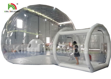 Good Quality Inflatable Water Parks & 6m Diameter Transparent Inflatable Bubble Tent With Tunnel For Outdoor Camping Rent on sale