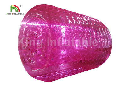 Good Quality Inflatable Water Parks & 2.4m Adults Pink Inflatable Water Zorb Roller For Grassland , Snow Land on sale