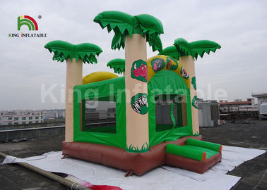 Good Quality Inflatable Water Parks & 5x4.5m Green Coconut Tree Kids Inflatable Jumping Castle / Blow Up Bounce House on sale