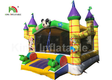 Good Quality Inflatable Water Parks & 0.55mm PVC Combo Mickey Mouse Commercial Jumping Castles With Step on sale