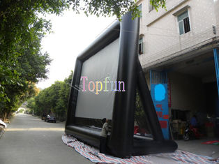 Good Quality Inflatable Water Parks & Durable Advertising Commercial Inflatable Movie Screen For Rental Business / 0.55mm PVC Tarpaulin on sale