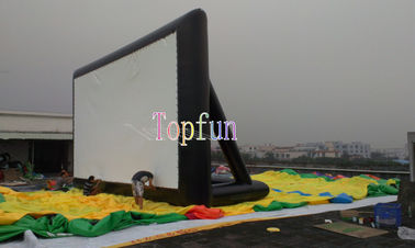 0.55mm PVC Commercial Inflatable Movie Theater Screens for Outside / Firproof And Waterproof