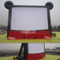 Amazing Cute Mickey Outdoor Inflatable Movie Screen / Theater Screens With Two Side Projecting