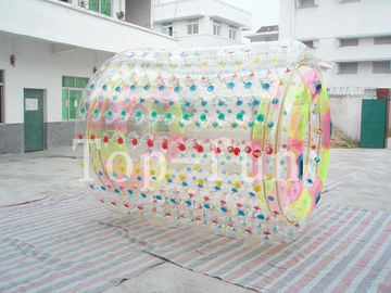 Clear giant climbing inflatable water roller , water rotary wheel