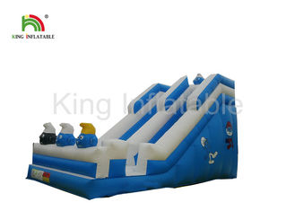 Good Quality Inflatable Water Parks & Blue Crazy Fun Surf Inflatable Dry Slide With Digital Printing , Inflatable Dry Slide on sale