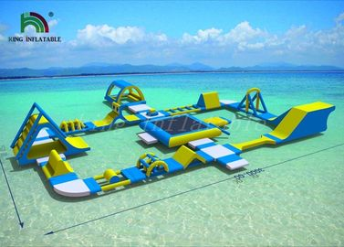 Good Quality Inflatable Water Parks & Bright Color Anti - UV Inflatable Floating Water Park With 2 Years Warranty on sale