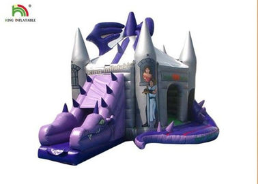 Purple Dragon Inflatable Jumping Castle With Slide For Birthday