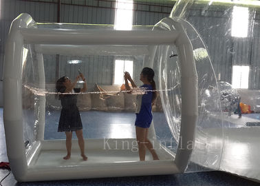 OEM Romantic 0.8mm PVC Inflatable Transparent Bubble Tent / Balloon For Party