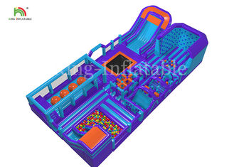 30*15*6 m Giant Inflatable Outdoor Sport Games Obstacle Course Equipment For Adults