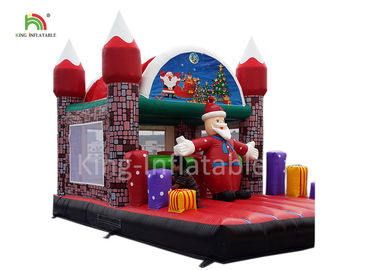 Merry Christmas Inflatable Santa Claus Bouncy Castle For Xmas Decoration 20ft