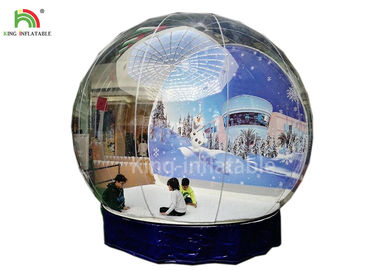 Good Quality Inflatable Water Parks & Human Size Inflatable Snow Ball Clear 0.8 mm PVC  Globe Photo Taking EN14960 on sale