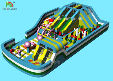 22*15 m Inflatable Amusement Equipment Kids Play Park Dry Slide Bouncer