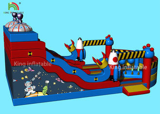 Customized Alien Space Theme Inflatable Dry Slide Kids Jumping Castle For Party