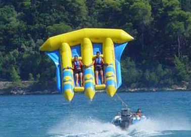 China Exciting PVC Inflatable Fly Fishing Boats Banana Shape for 3 - 6 Person Aqua Games supplier
