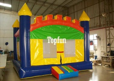 Kids Customized Inflatable Bouncy Castle Plato PVC Tarpaulin For Playground