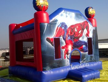 Awesome Commercial Spiderman Jumping Castle 0.55mm PVC Tarpaulin