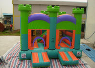 China Oxford Fabric Inflatable Commercial Bounce Houses With Slide For Kids factory