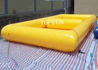 Funny Yellow Double Pool Inflatable Swimming Pools PVC Tarpaulin CE Approval