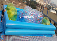 Good Quality Inflatable Water Parks & Custom Double Pipes Funny Inflatable Swimming Pool Water Walking Ball Roller on sale