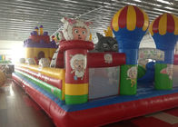 Funny PVC Inflatable Sports Games , Red Indoor Inflatable Playground For Family