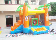 China Kids / Adults Small Inflatable Bouncy Castle With Slide Orange factory