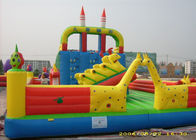 China Outdoor Playground Inflatable Amusement Park With 0.55mm PVC Tarpaulin factory