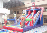 China Fire Retardanthave Inflatable Slip And Slide Spider - Man Theme factory