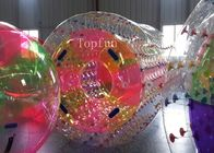 Water Game Colorful Inflatable Water Roller 1.0mm PVC Fire - Resistence