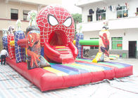 China PVC Tarpaulin Spider Man Inflatable Amusement Park With 8m * 5m * 4m factory