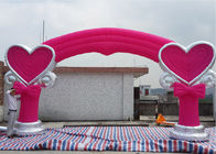 Good Quality Inflatable Water Parks & Pink 210D Oxford Fabric Inflatable Arches With Lovely Model For Wedding on sale
