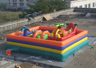 China Plato PVC Tarpaulin Childrens Inflatable Fun Park With Slide And Tunnel factory