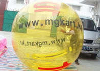 Customized Yellow Inflatable Water Ball / Inflatable Walk On Water Ball With Logo
