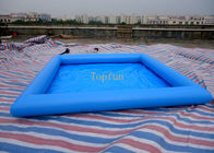 China Safe 5*5m Blue Kids Inflatable Paddling Pool , 0.9mm PVC Tarpaulin factory