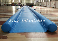 Commercial Blue City Big Inflatable Slip N Slide With Single Lane 50m Long Durable