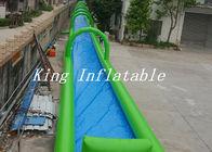 China Single Lane Inflatable Street Water Slide PVC Tarpaulin Slip N Slide For Adults OEM factory