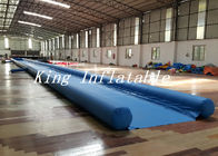 China Outdoor 50m Long Inflatable Slide The City With Blue Single Lane factory