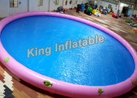 China 18m Diameter Round Inflatable Swimming Pools With Animal Printing , 500kg Weight company