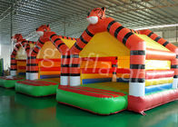 0.55mm PVC Tarpaulin Tiger Inflatable Jumping Castle For Outdoor Entertainment
