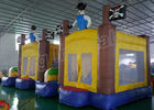 Outdoor Playground Pirate Inflatable Kids Jumping Castle Yellow And Blue