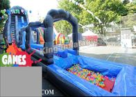 China Blue / Green Customized Inflatable Water Slide With Constant Blowing System factory