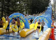 China Crazy Fun Giant100×5.8m  PVC Tarpaulin Inflatable Slip N slide  The City For Adult factory