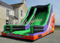 China Commercial PVC Clebration large Inflatable water slides 26*16*18 feet factory