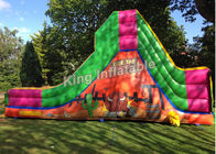 China Bull Theme Bright Color Inflatable Water Slides With 25 Feet Long For Kids And Adult factory