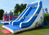 21 Feet High Giant Wave Inflatable Blow Up Water Slide With 3 Years Gurantee