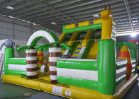 China PVC Animal Inflatable Bouncy Castle Bed , Blow Up Kids Water Slide factory