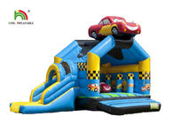 5.2 x 6.9m Custom Made Inflatable Bounce House / Jumping Castle With Slide