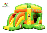 Kids Sport Lion Combo 4.2 x 4.7m Inflatable Jumping Bouncer With Slide Logo Printed